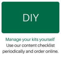 DIY, First Aid Kit restocking logo