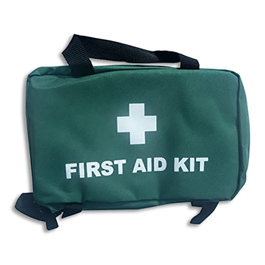First Aid Bag with Handles, green, ideal for portable usage and where space is limited