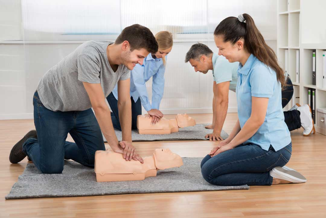Students learn CPR at Medilife First Aid Training Courses