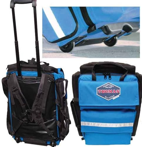 Thomas ALS Pack Ultra designed to carry virtually all equipment and supplies needed by emergency medical teams to perform advanced cardiac and trauma life support