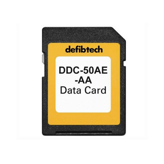 The Defibtech DDC-50AE-AA provides up to 50 minutes of event audio and ECG data storage.
