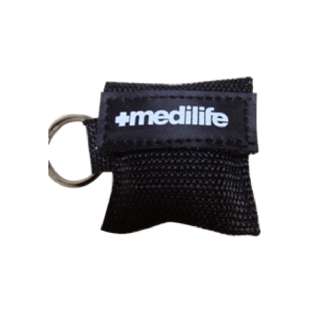 Resuscitation CPR Face Shield in a key ring pouch